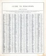 Wisconsin - Guide 1, United States 1885 Atlas of Central and Midwestern States